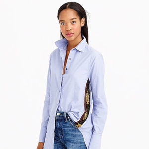 J.crew chambray sequin button down top